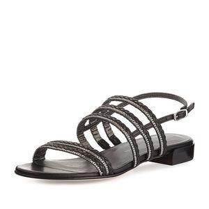 Stuart Weitzman Linedrive Braided Chain Sandals!